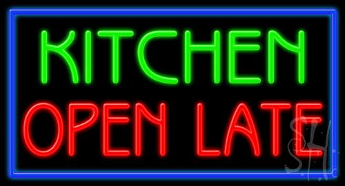 open kitchen late sign neon signs restaurant till light enlarge bar irish bank