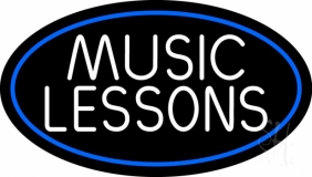 Music Lessons 2 LED Neon Sign