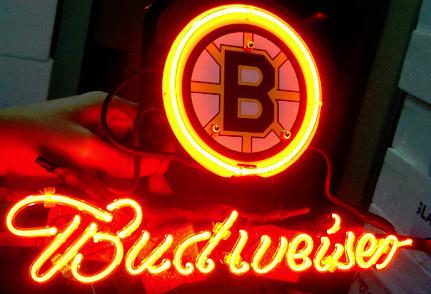 Retro Neon Signs Neon Light #1: nl boston bruins hockey budweiser logo neon sign