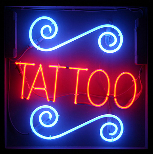 Retro neon signs neon light for Neon tattoo signs