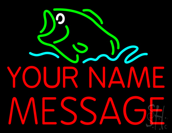 Custom bass fish neon sign custom neon signs value for Fish neon sign