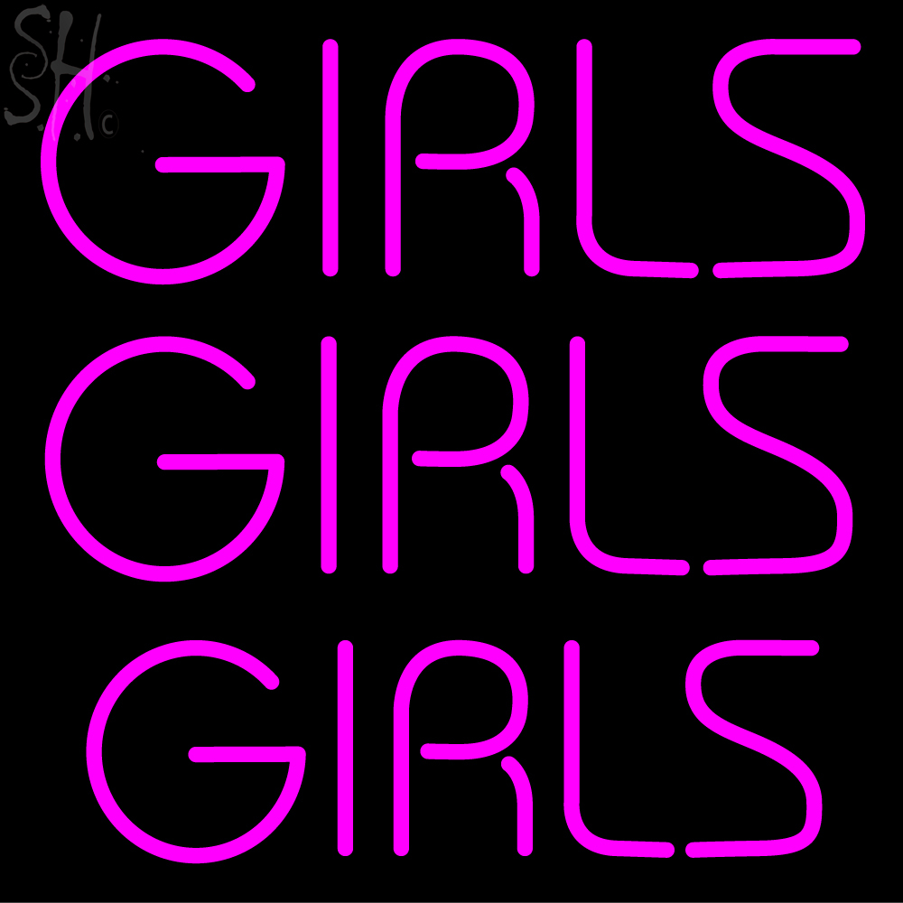 custom mallorr girls neon sign 1 your custom signs neon light. Black Bedroom Furniture Sets. Home Design Ideas