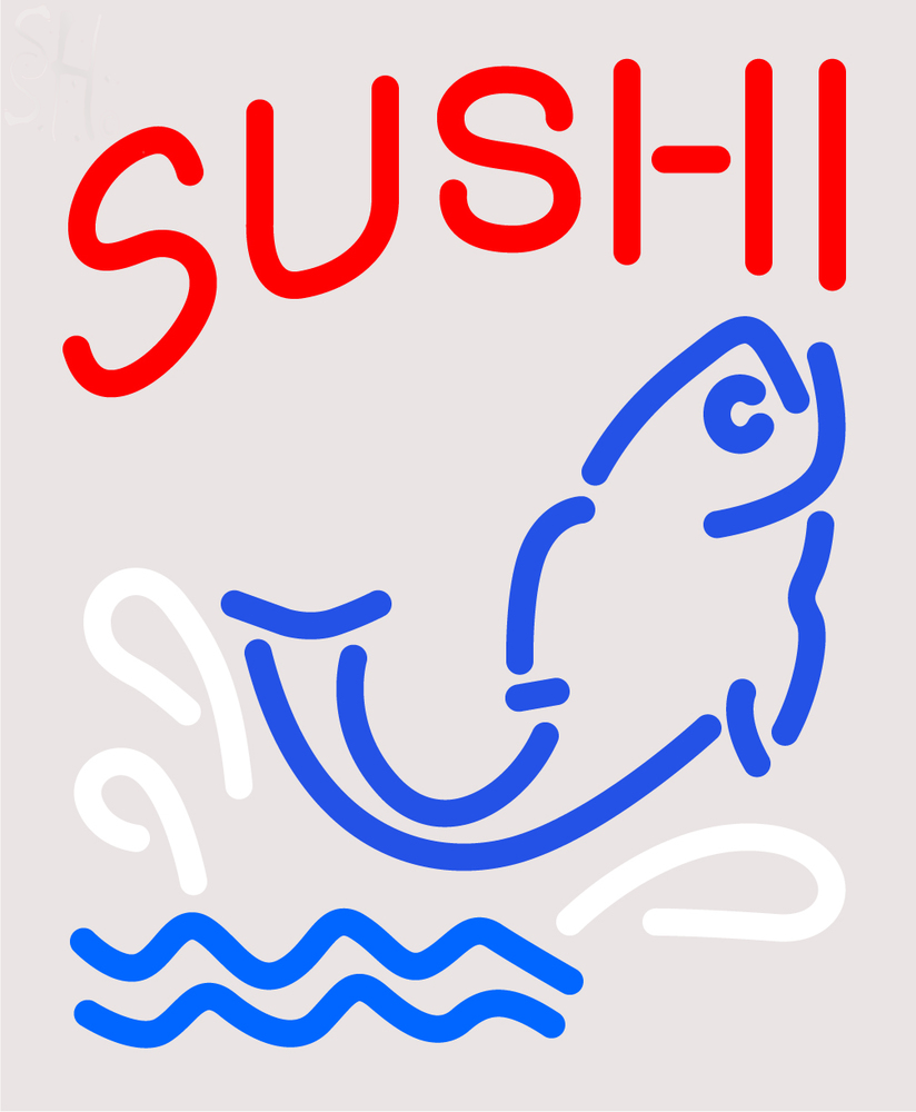 Custom Sushi With Fish Diet Neon Sign 4