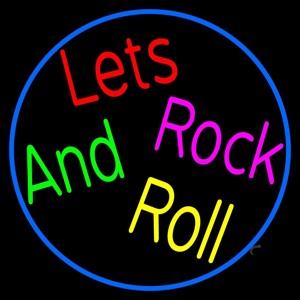 Lets rock and roll neon sign music signs light
