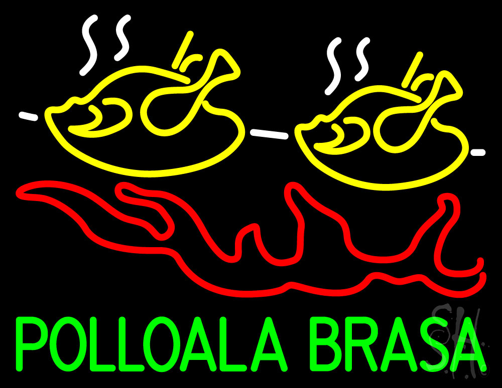 Pollo ala brasa fish neon sign animals neon signs neon for Fish neon sign