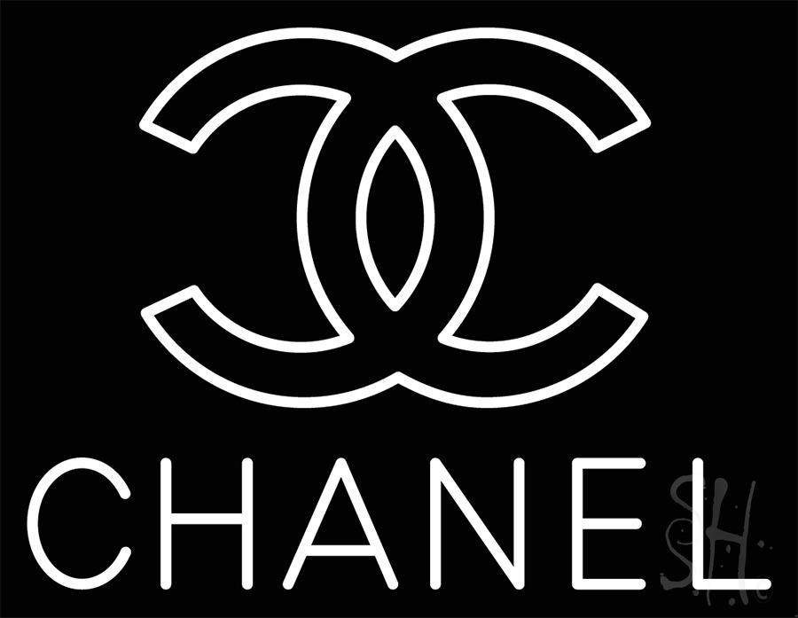 Chanel Logo White