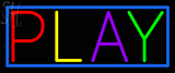 Custom Blue Bodar Play Neon Sign 4