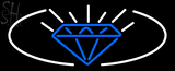 Custom Blue Diamond Logo Neon Sign 1