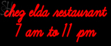 Custom Chez Elda Restaurant Neon Sign 1