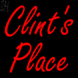 Custom Clints Place Neon Sign 1