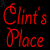 Custom Clints Place Neon Sign 2