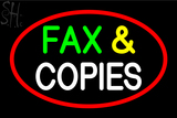 Custom Fax And Copies Neon Sign 3