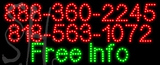 Custom Free Info With Phone No Neon Sign 1