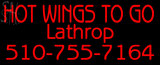 Custom Hot Wings To Go Neon Sign 2