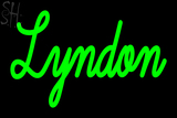 Custom Lyndon Neon Sign 3