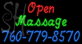 Custom Open Massage With Phone No Neon Sign 1