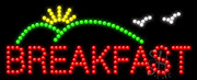 Breakfast Logo LED Sign