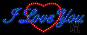 I Love You Logo LED Sign