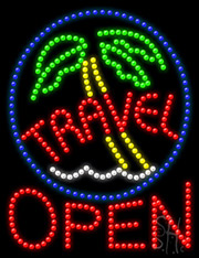 Travel Open LED Sign