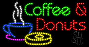 Coffee and Donuts LED Sign