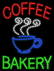 Coffee Bakery LED Sign
