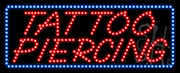 Tattoo Piercing LED Sign