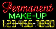 Permanent Make-Up LED Sign
