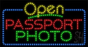 Passport Photo LED Sign