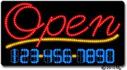Open-Phone Number Changeable LED Sign