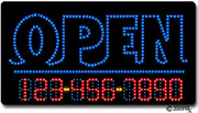 Fish-Open-Phone Number Changeable LED Sign