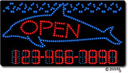 Dolphin-Open-Phone Number Changeable LED Sign