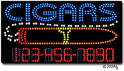 Cigars-Phone Number Changeable LED Sign