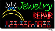 Jewelry Repair Phone Number Changeable LED Sign