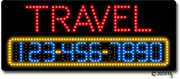 Travel Phone Number Changeable LED Sign