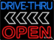 Drive Thru Open Arrow Left LED Sign