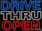 Drive Thru Open Arrows Left LED Sign