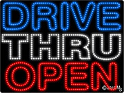 Drive Thru Open Right Arrow LED Sign