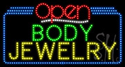 Body Jewelry Open LED Sign