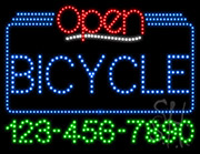 Bicycle Open with Phone Number LED Sign