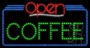 Coffee Open LED Sign