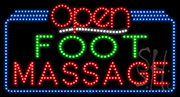 Foot Massage Open LED Sign