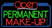 Permanent Make Up Open LED Sign