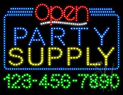 Party Supply Open with Phone Number LED Sign