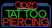 Tattoo Piercing Open LED Sign