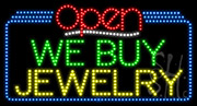 We Buy Jewelry Open LED Sign