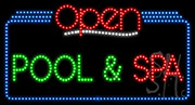 Pool Spa Open LED Sign