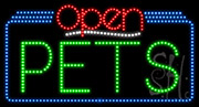 Pets Open LED Sign