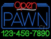 Pawn Open with Phone Number LED Sign