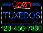 Tuxedos Open with Phone Number LED Sign
