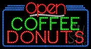 Coffee Donuts Open LED Sign